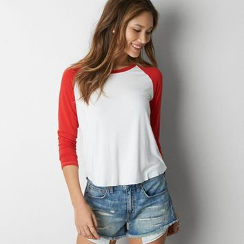 AEO SOFT & SEXY BASEBALL T-SHIRT