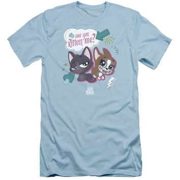 Littlest Pet Shop Slim Fit T-Shirt Are You Kitten Me Light Blue Tee