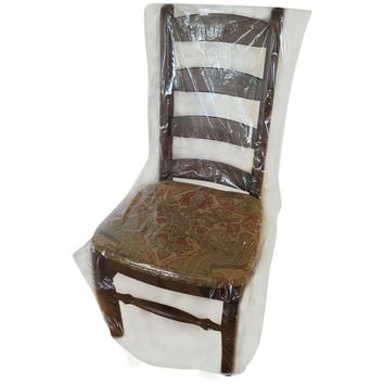 Evelots Dining Room Chair Protection Cover- No Spills Dust Pet Hair Claws-Clear