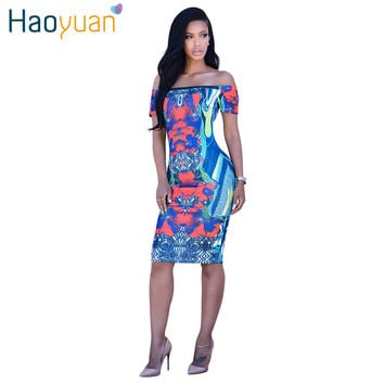 Dmart7deal Women Off Shoulder Sexy Club African Print Party Dresses Self Portrait Indian Dashiki Vintage Bodycon Dress
