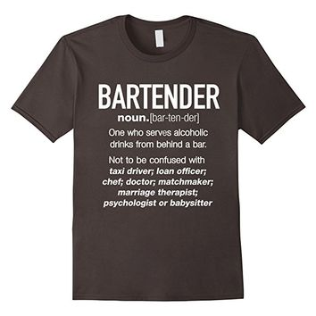 Bartender Definition Funny T-shirt