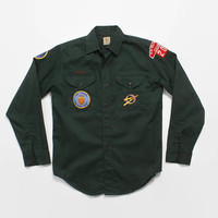 Vintage 60s Boy Scout SHIRT / 1960s BSA EXPLORER New Orleans Council 202 Geological Patches M