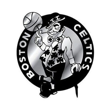 Boston Celtics Silver Chrome Colored Raised Auto Emblem Decal Basketball