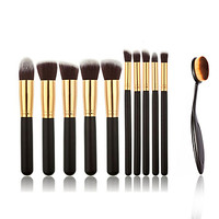 10pcs Makeup Brushes And Makeup Toothbrush Fashion Makeup Brush Set