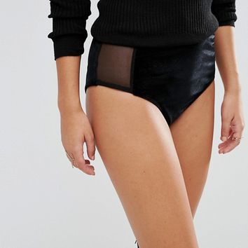 Boohoo Velvet Hot Pants at asos.com