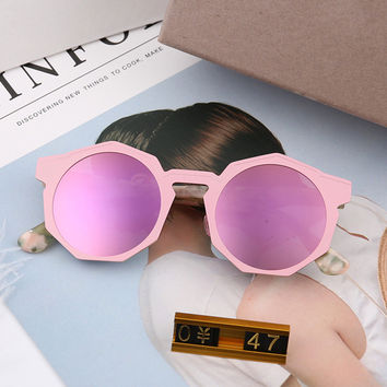 Stylish Irregular Mirror Strong Character Sunglasses [10155809031]
