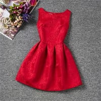 Summer Girls Princess Dresses Baby Kids Children's Clothing Girl School Dress Teenagers Girls Party Wear Dress For 6 To 12 Years