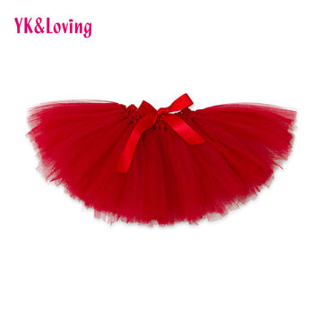 Baby Girl TUTU Skirts 2017 New Princess Pettiskirt Chiffon Red Skirt Roupas Infantil Newborn for Kids 0-2Y Clothes YK&Loving