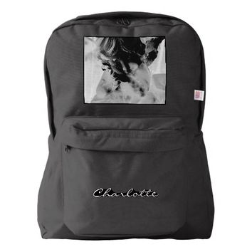 Ghostly Angel Cherub Goth Dark Art Photography Backpack