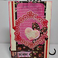 Be Mine Handmade Valentine . Ready to Ship.
