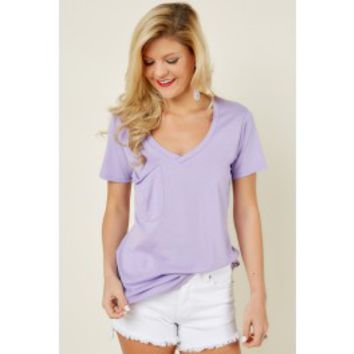 Z Supply Pocket Tee In Orchid