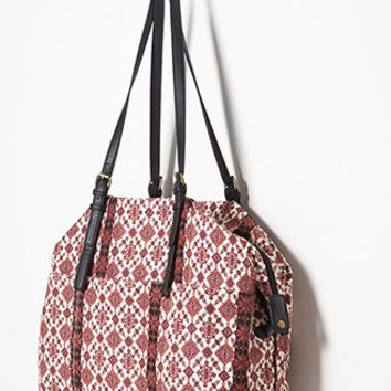 Tile Print Duffle Bag