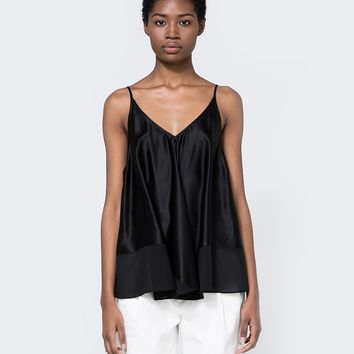T by Alexander Wang / Silk Trapeze Cami in Black