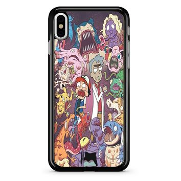 Rick And Morty Pokemon iPhone X Case