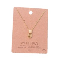 Must Have-Pineapple Necklace, Gold