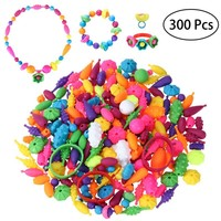TOYMYTOY Pop Snap Beads Set Creative DIY Necklace Bracelet Jewelry Making Kit for Girls Art Crafts Educational Toy