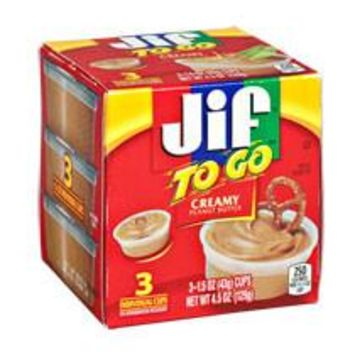 Jif To Go Creamy Peanut Butter 3ct