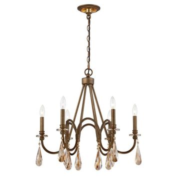 Home Decorators Collection Mayfield Park Collection 6-Light Forged Bronze Oval Chandelier-7926HDC - The Home Depot