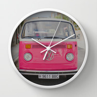 Hot Pink Lady Wall Clock by Hello Twiggs