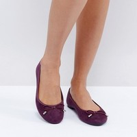 New Look Suedette Ballet Flat at asos.com