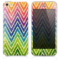 The Grunge Sharp Chevron Textured Skin for the iPhone 3, 4-4s, 5-5s or 5c