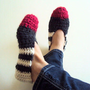 Extra Thick Wool Slippers Crochet Slippers Slipper Socks House Shoes Moccasins Women Men Clothing Accessories Valentine's Day Gift