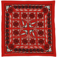 Grateful Dead Bandana Red