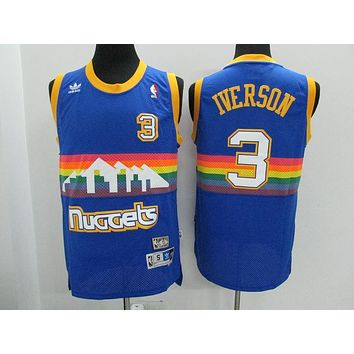Classic NBA Basketball Jerseys Denver Nuggets #3 Allen Iverson