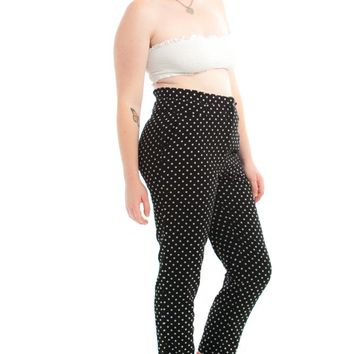 Vintage 90's Cynthia Rowley Polka Dot Trousers - XL