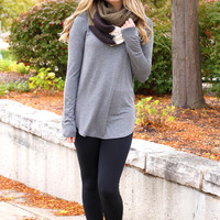 The Perfect Long-Sleeved Tunic - Charcoal