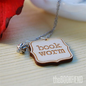 book worm necklace
