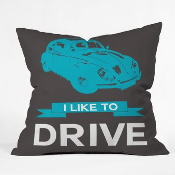 Naxart I Like To Drive Beetle 3 Throw Pillow