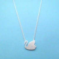 Pretty, Swan, Gold, Silver, Necklace, Animal, Bird, Swan lake, Jewelry