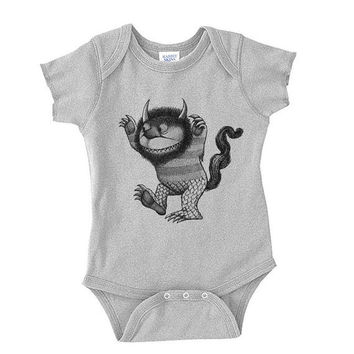 Baby Onesuit - Where the Wild Things Are - Available in Newborn, 6month, 1year Sizes