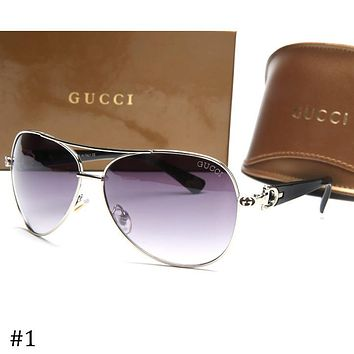 GUCCI 2018 new aviator-style driving frog mirror sunglasses F-ZXJ #1