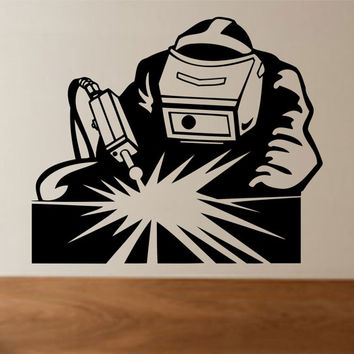 Welder - Man Welding Vinyl Wall Decal Sticker Decals Stickers