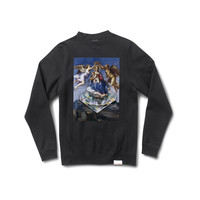 Diamond Ascent Crewneck Sweatshirt in Black