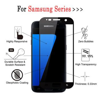 S 7 Glass For Samsung Galaxy S7 S6 S5 S4 S3 Note5 Note4 3D Full cover Screen Protector Film case For Samsung S 6 5 4 3 Note 5 4
