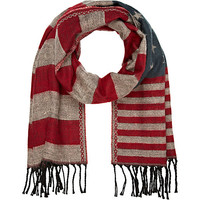 River Island MensNavy stars and stripes scarf