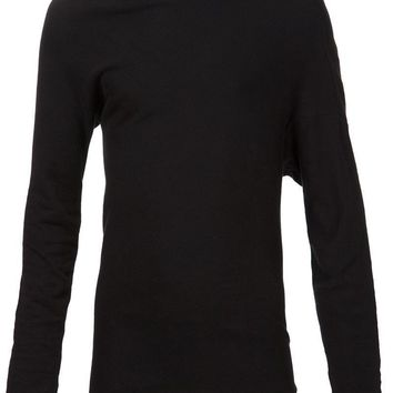 Obscur draped knit polo shirt