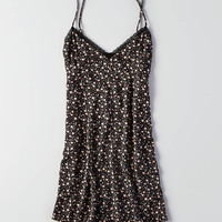 AEO Floral Slip Dress, Black
