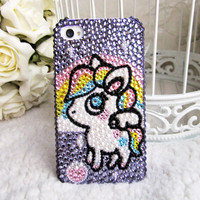 Original Fantasy Unicorn Crystal Bling Bling Phone Case