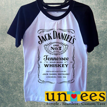 Jack Daniels Logo Short Raglan Sleeves T-shirt