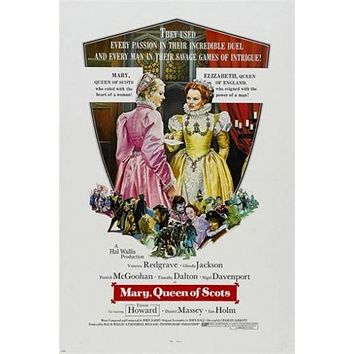 MARY QUEEN OF SCOTS classic movie poster VANESSA REDGRAVE historic 24X36