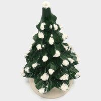 Porcelain Ceramic Snow Tipped Table Top Christmas Tree
