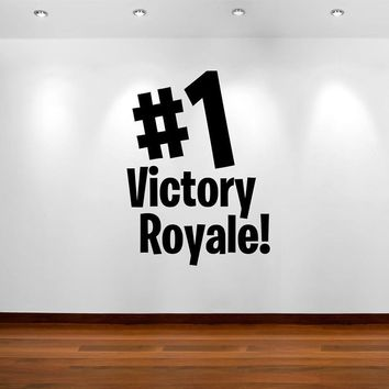 Vinyl Wall Sticker For Kid Room Mural Xbox PS4 Quote Game Room Decal Bedroom Playroom Victory Royale Home Decoration Poster W309