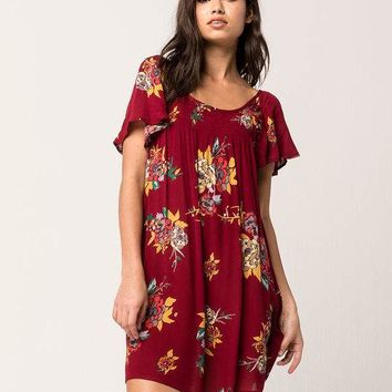 PATRONS OF PEACE Smocked Floral Dress