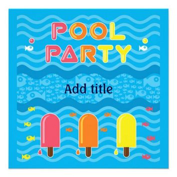 Pool Party Invitation from Zazzle.com