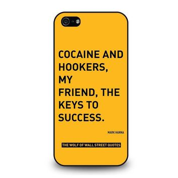the wolf of wall street quotes iphone 5 5s se case cover  number 1