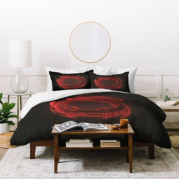 Viviana Gonzalez Abstract Circle 3 Duvet Cover